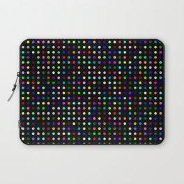 Big Hirst Polka Dot Black Laptop Sleeve