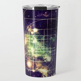 Galaxy Sacred Geometry: Golden mean Travel Mug