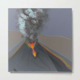 Nameless Monster as Beautiful as Destroyer, Volcano on La Palma, 1 Metal Print
