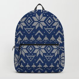 Knitted Scandinavian pattern 2 Backpack