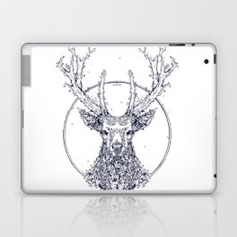 Flowers and Stag [Monochrome] Laptop & iPad Skin