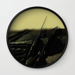 Abstract field landscape metallic pattern texture background Wall Clock