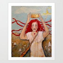 Crowning Herself Art Print