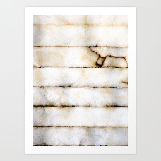 Weathered Alabaster Art Print