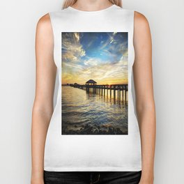 Biloxi Bay Sunset Biker Tank