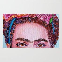 """Frida Kahlo """"I See You"""" Rug"""