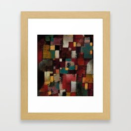 Redgreen and Violet-yellow Rhythms, 1920 by Paul Klee, 1920 Framed Art Print