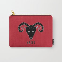 ARIES Horoscope Ram Design - RED Carry-All Pouch