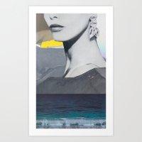 kurt cobain Art Prints featuring AWKWARD PHOTOS OF KURT COBAIN by WONDERPULP