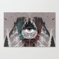 millenium falcon Canvas Prints featuring millenium by torbergson