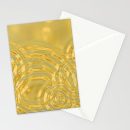 Gold Ripples Stationery Cards