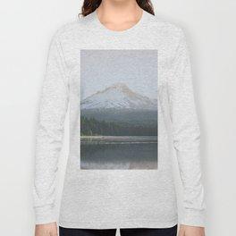 Trillium Lake Sunrise - Nature Photography Long Sleeve T-shirt