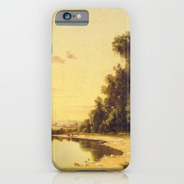 On The Escopus At Hurley New York 1858 By David Johnson | Reproduction | Romanticism Landscape Paint iPhone Case