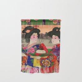 Two Geishas Wall Hanging