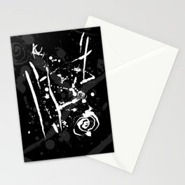 Black and White Abstract Modern Ink Splatter Stationery Cards