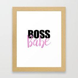 Boss Babe | Black & Pink Framed Art Print
