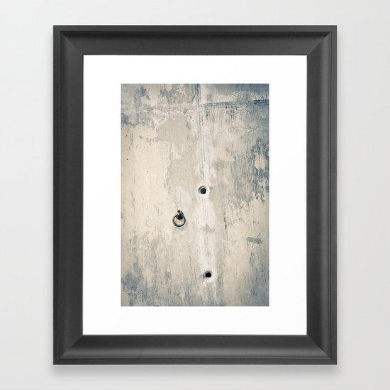Cement Wall Textures Framed Art Print