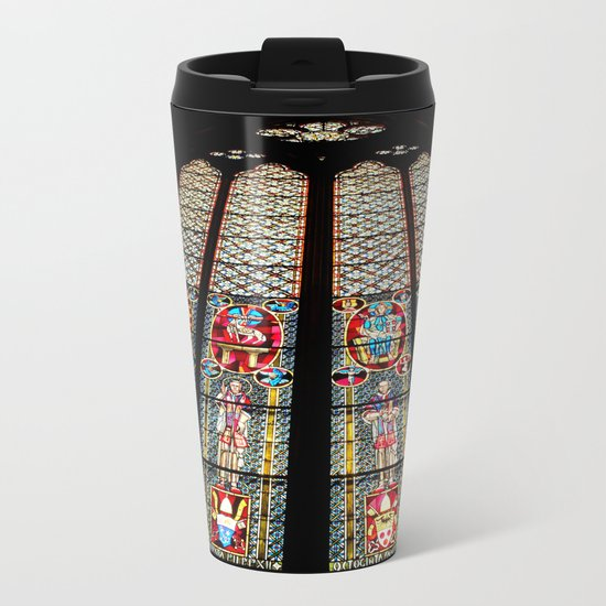 Cathedral Window Metal Travel Mug