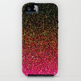 Confetti Glitter Sparkle Splatter Pink Orange Yellow iPhone Case