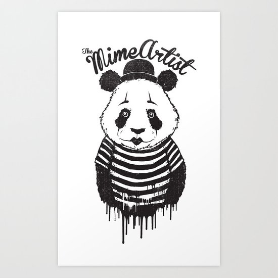 The Mime Artist Art Print