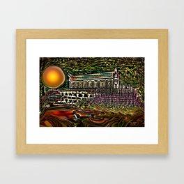 House by the lake Framed Art Print