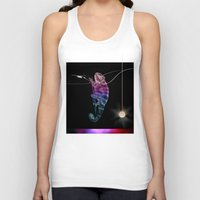 chameleon Tank Tops featuring chameleon by merry