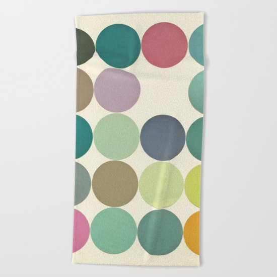 Circles I Beach Towel
