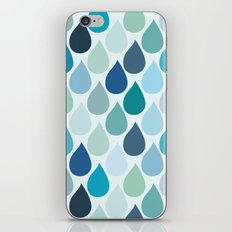 Blue rain iPhone & iPod Skin