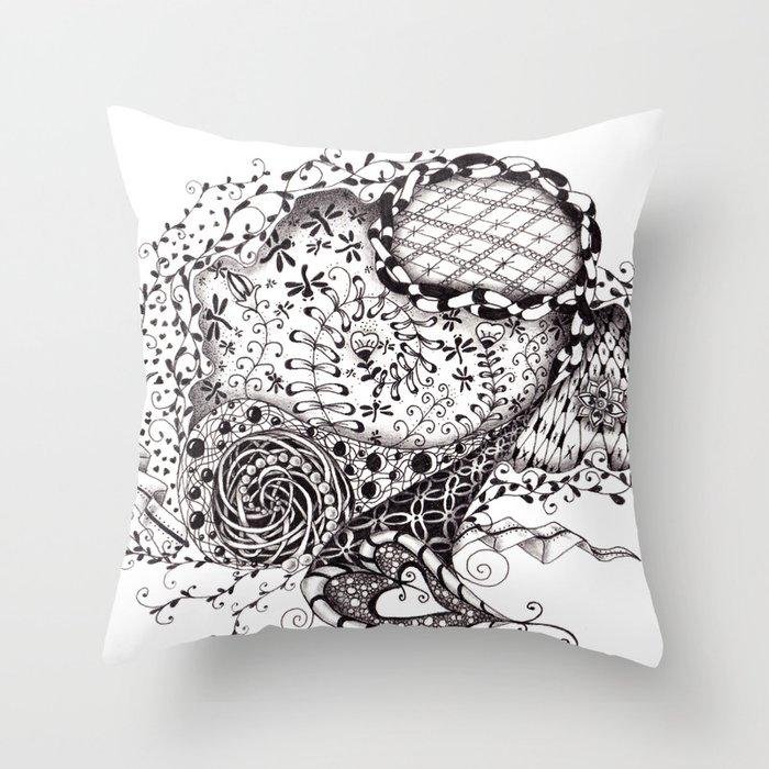 Doodle #2 Throw Pillow