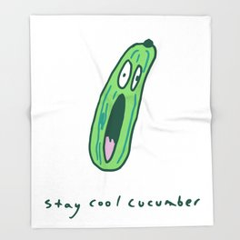 Stay Cool Cucumber Throw Blanket