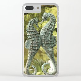 Seahorse union Clear iPhone Case