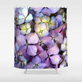Colorful Hydrangea Flower Macro Shower Curtain
