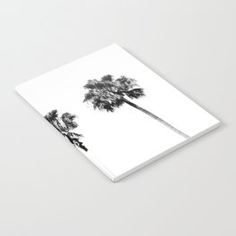Black + White Palm Trees Notebook