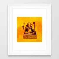 ganesha Framed Art Prints featuring Ganesha by Ninamelusina