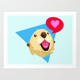 Otters Love Art Print