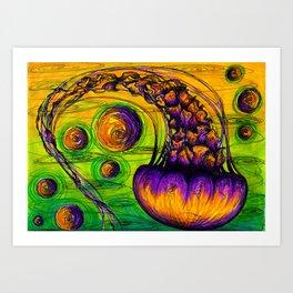 Jelly fish 2 Art Print