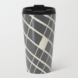 Grid in Black Travel Mug