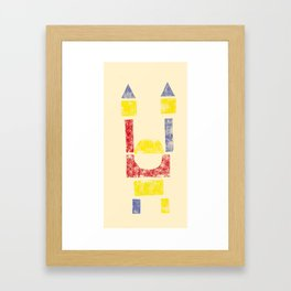 Blockitecture One Framed Art Print