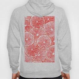Watercolor grapefruit slices pattern Hoody