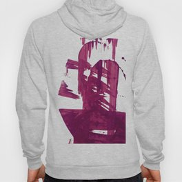 Cranberry brushstroke [1]: a bold, simple, abstract piece in purple Hoody