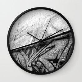 Grey Graffiti Wall Clock
