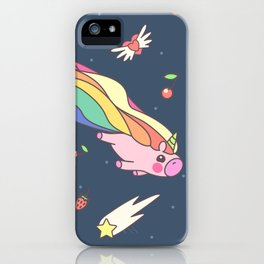 "Vector pattern series of ""Unicorns time"". Art for kids. iPhone Case"