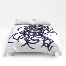Evil Eye Halloween Creature Vector Comforters