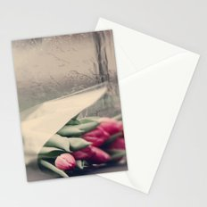 tulips on a rainy day Stationery Cards