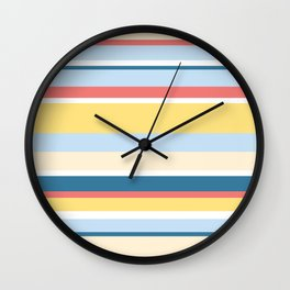 Rushcutters Bay Stripe Wall Clock
