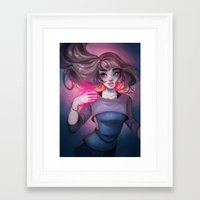 cyarin Framed Art Prints featuring Bonfire Spell by Cyarin