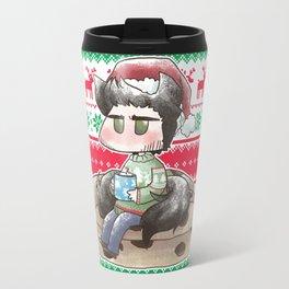 Christmas Seed Wolf Travel Mug