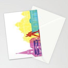 Montreux skyline pop Stationery Cards