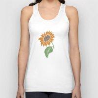 sunflower Tank Tops featuring Sunflower by Erik Sandi Satresa