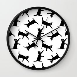 Cats on White Wall Clock